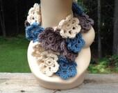Blue Flower Scarf