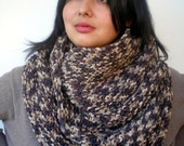 Mimetic Grey  Color ICircle Scarf Hand Knit Circle Scarf  Soft  Unisex Scarf   NEW