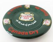 Vintage Canada Dry Pub Ashtray, Vintage Barware, Canada Dry Bowl, Pub Memorabilia, Canada Dry plate