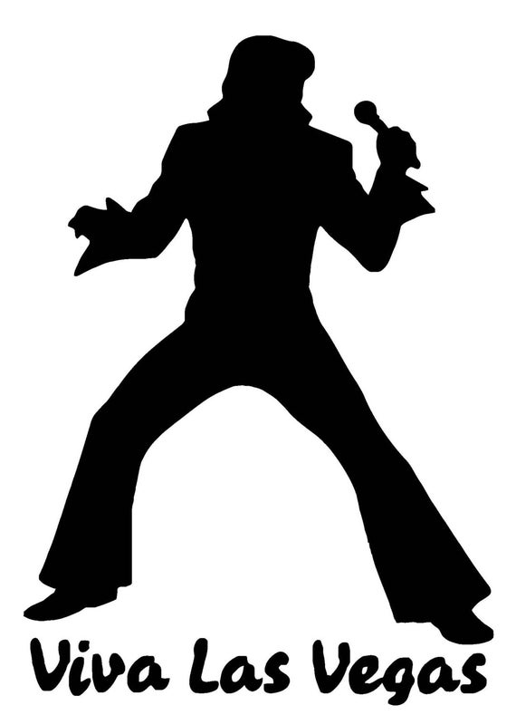 Elvis Viva Las Vegas Vinyl Decal F - Custom vinyl decals las vegas