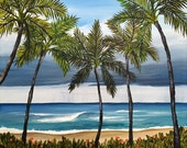 Breakfast in Paradise - RESERVED FOR DEBBIE Original Acrylic Painting 20x24 Hawaiian Art