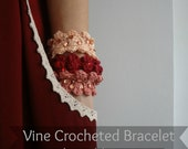 PDF Crochet Pattern - Crocheted Vine Bracelet and Necklace, crocheted necklace, crocheted  accessory, a photo tutorial