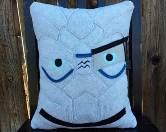 Garrus Vakarian, Mass Effect, Liara, pillow, plush, cushion