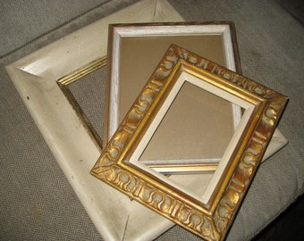 Collection of Gold and Beige Off White Frames