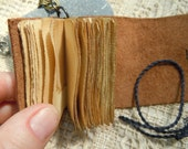 Miniature Book Necklace with Reclaimed Leather (#11)
