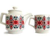 flowers teapot & mug
