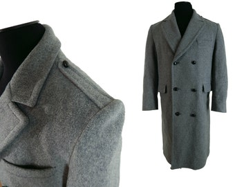 Vintage 70's Mens Fashion Double Breasted Wool Coat Maine Guide by Congress Size 40