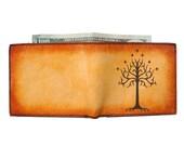 Leather Wallet - Mens Bifold Wallet - Credit Card Wallet - Tree of Gondor