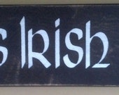 Personalized Irish Pub Sign With Pint Glass Graphic (Large Sign)