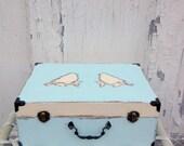 Mini suitcase Wishing Well Wedding Card Box Wedding card holder wedding cardbox vintage romantic