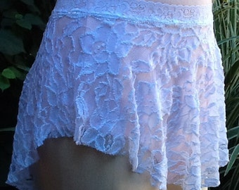 SAB Dance Ballet Skirt in Large Pattern White Lace- All Stretch