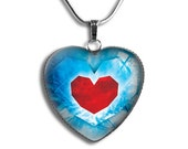 Legend of Zelda Necklace, Zelda Heart Container Necklace, Legend of Zelda Heart Container Pendant, Zelda Heart Pendant, Zelda Necklace