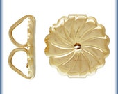 Ear Nuts 14Kt Gold Filled Premium Earring Backs 9.2x9.4mm Swirl - 1pr (6444) 10% discounted