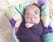 Lavender Sparkle Headband, Baby Headband, Princess Headband, Lavender Crystal Headband Photo Props