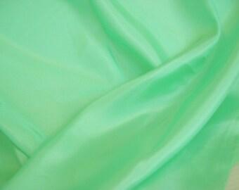 Elf Green Silky Fabric- Eco Redhead Girl Lingerie- 36 inch x 1.5 yds
