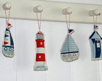 Little Seaside Lavender Bags- beach huts, boats and lighthouses