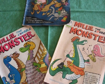 Millie the Monster No. 1 and 2, plus Rocky and his Fiendish Friends
