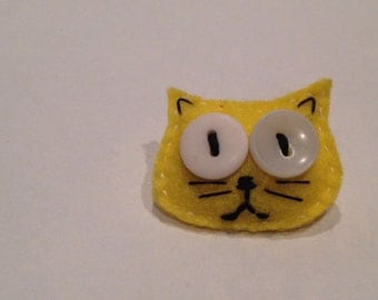 Mini Felt Kitty Brooches