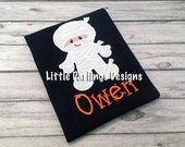 Fun Boys Mummy Halloween Shirt with Glow In the Dark Stitching Around Mummy!