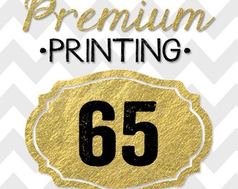 65 5x7 PREMIUM PRINTED double-sided INVITATIONS on thick cardstock and free white envelopes