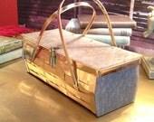 Vintage 50s Metal Weave Lucite Box Handbag