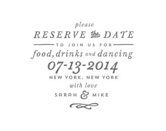 Reserve // Save The Date Stamp