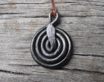 Traditional Norse Coiled Serpent Baltic Goddess Amulet (Viking Norse Pagan Heathen) (Made to order)