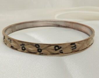 Vintage Writing Bracelet