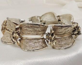 Vintage Heavy Gold Link Bracelet