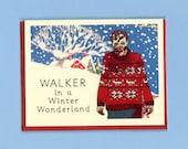 WALKER In A WINTER Wonderland - Zombie Christmas - Funny Christmas Card - Holiday Card - Christmas Card - Zombies - Walking Dead Christmas