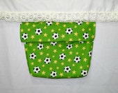 Soccer themed bed pocket