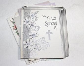 12 Vintage Sympathy Cards