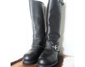 SaLe - CLASSIC Carolina BIKER Engineer BOOTS - 5.5 - All American Tough Girl