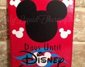 Mickey Disney Cruise Vacation Chalkboard Countdown Calendar READY TO SHIP