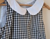 Gingham checked peter pan collar shift dress