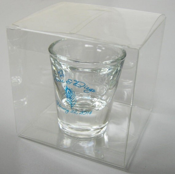 150 Clear Wedding Favor Boxes Perfect for Shot Glasses