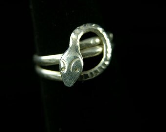 Mexican Silver Snake Ring (No. 546)