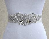 Bridal Sash Belt Wedding Dress Sash Belt Rhinestone and Pearl Wedding Sash Belt Rhinestone Sash Belt Ivory Ribbon SA016LX
