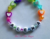 Heart Bracelet Toddler Girl Name ID Personalized Custom Item