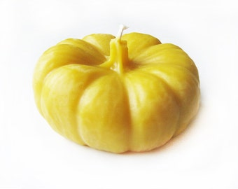 Pure Beeswax Large Pumpkin Candle