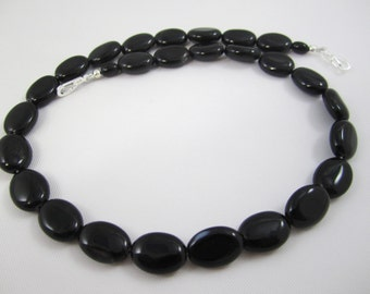 Oval Black Onyx Necklace for Interchangeable Multi Strand Collection