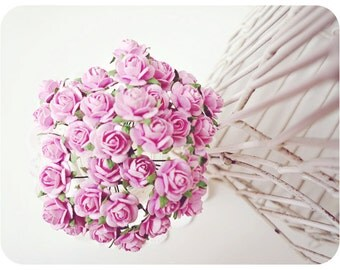 Mulberry paper mini Rose Buds flower / pack