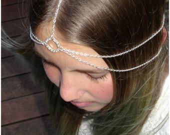 Infinity Headpiece Head Jewelry Hair Jewelry Head Chain Fine Jewelry Boho Chain Headpiece Wedding Bridal Headpiece Head Chain - Infinity