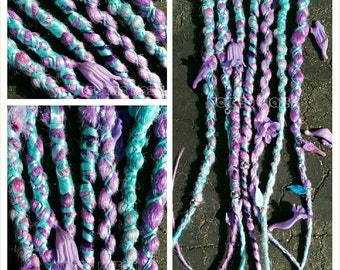 7 multi wrapped dreads with beads you pick the colors custom order
