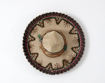 vintage sombrero by La Providencia, 50s Mexicana hat, southwestern decor