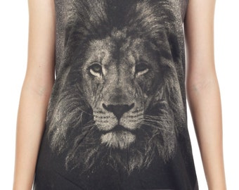 Lion Tank Top Lion Shirt Lion Aslan Narnia Animal Art Design Tank Women Shirt Tunic Top Vest Tank Top Size m, l , xl - JBT47