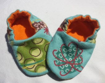 Newborn Baby Shoes Booties  - Planets