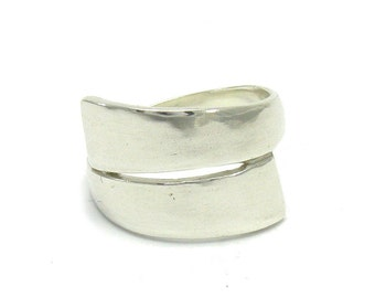 R000038 Plain STERLING SILVER Ring Solid 925 Band Stylish