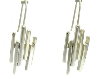 E000485 Sterling Silver Earrings Solid   925