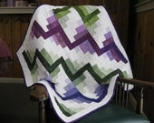 CLEARANCE: Newborn Baby Quilt in Purple and Green